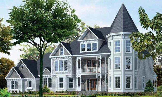 Four Bedroom Victorian Eclectic Home Building Plans