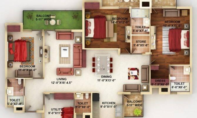 Four Bedrooms Balcony Jpeg