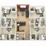 Four Bedrooms Building Plan Htjvj