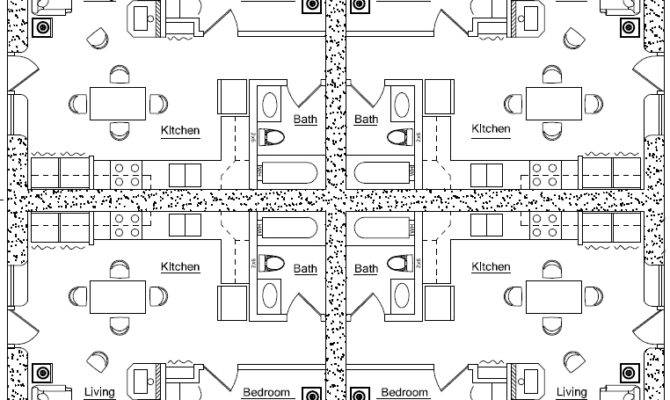 Fourplex Plan Earthbag House Plans