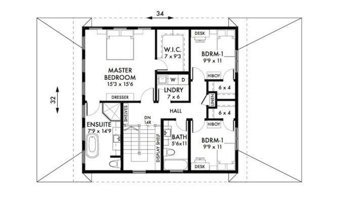 Foursquare House Plan Upper