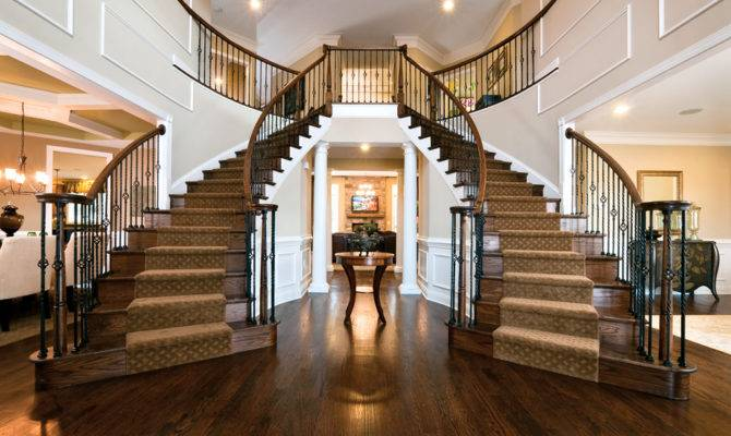 Foyer Double Staircase Homes Home Decor Pinterest
