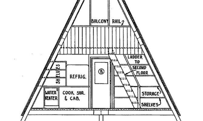 Frame Cabin Plan Bedrooms