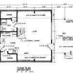 Frame Floor Plan Cabin