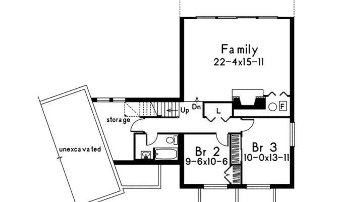Frame House Plan Lower Level Floor Plans