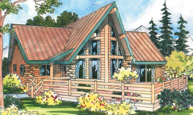Frame House Plans Log Home Vacation Associated Designs