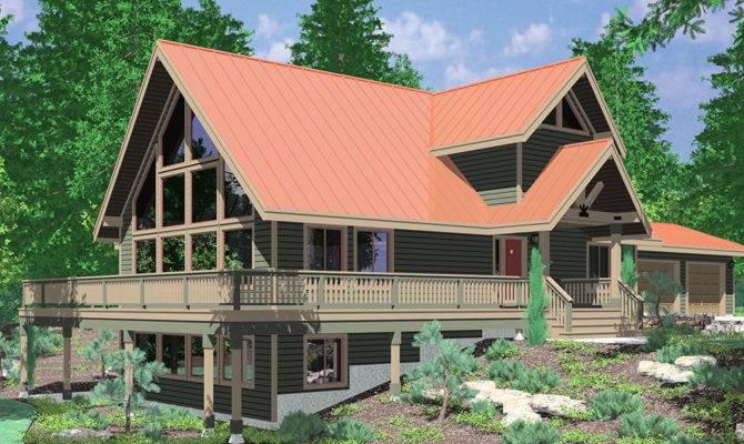 Frame House Plans Steep Rooflines
