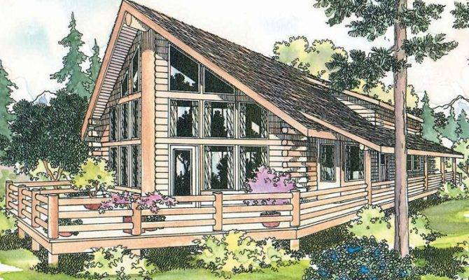 Frame Log Home Plan