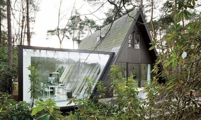 Frame Summer Cabin Gets Glass Addition