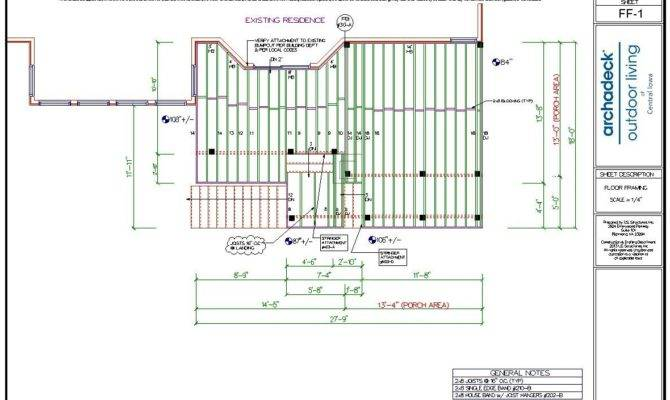 Framing Plans Urbandale Deck Porch Project