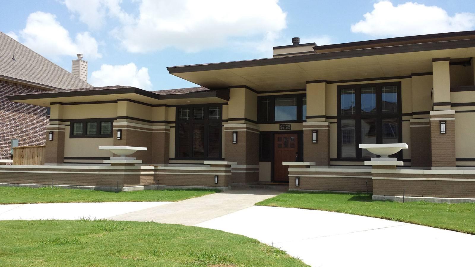 Frank Lloyd Wright Inspired Houses frank lloyd wright inspired homes - house plans | #52622