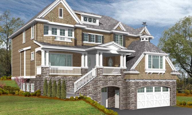 Freestone Multi Level Home Plan House Plans More