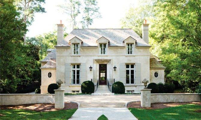 French Chateau Home Exterior Atlanta Homes Lifestyles