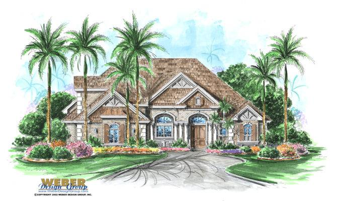 French Colonial House Plan Stonebridge Weber Design