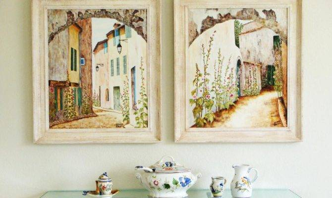 French Country Art Paintings Artwork Sale
