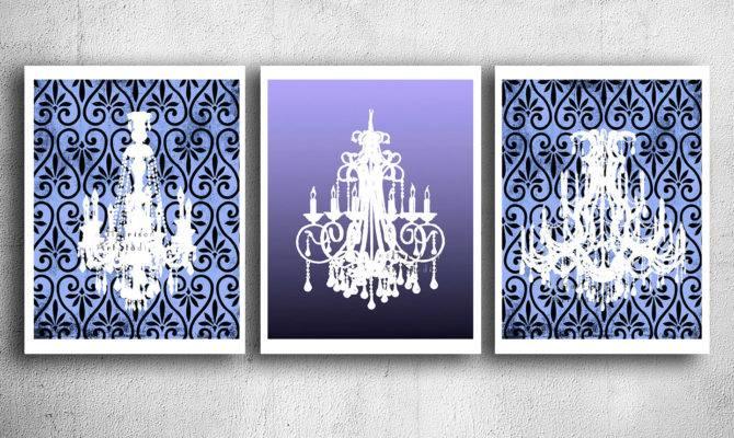 French Country Chandelier Poster Print Purple Eeartstudio