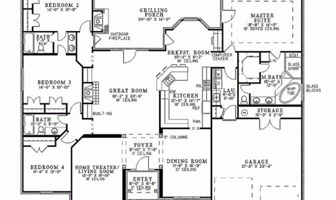 French Country House Floor Plan Home Pinterest