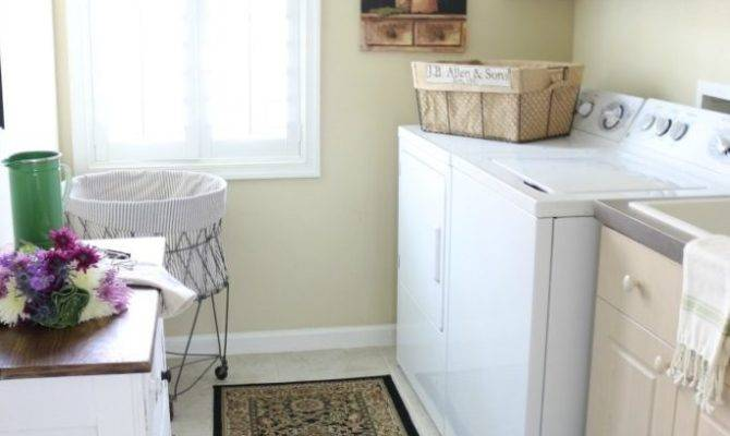 French Country Laundry Room Makeover Crowned Goat
