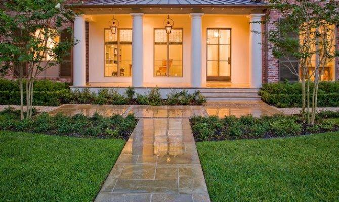 French Country Modern Traditional Landscape Houston