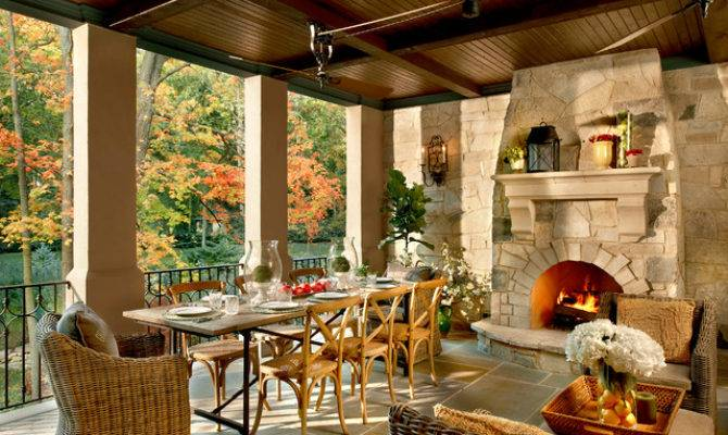 French Country Naperville Mediterranean Porch