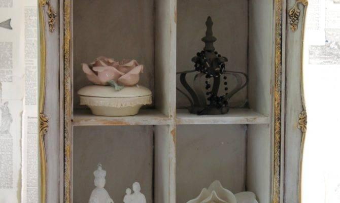 French Country Ornate Display Shelf Wall Shadow Box