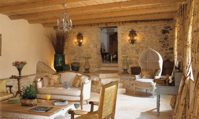 French Country Stone House Interiors