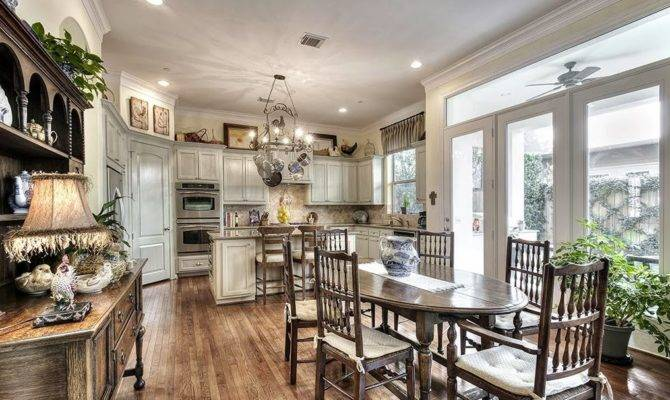 French Country Style Balances Painted Natural Wood Finishes