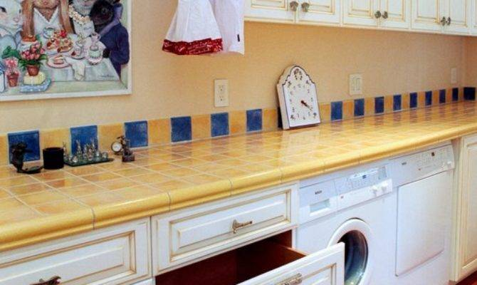 French Country Style Laundry Room Traditional
