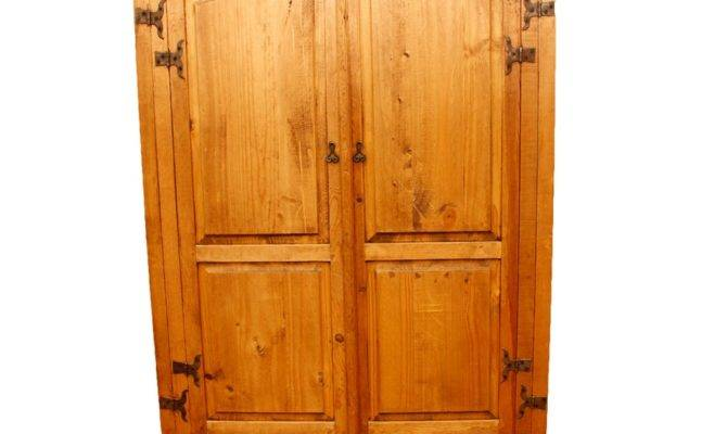 French Country Style Pine Armoire Ebth