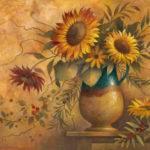 French Country Sunflower Elaine Vollherbst Lane Art Print