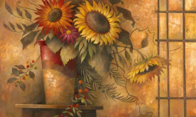 French Country Sunflower Elaine Vollherbst Lane Art