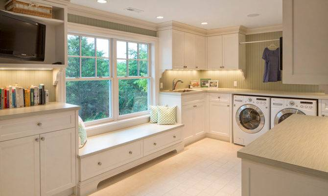 French Country Traditional Laundry Room Omaha
