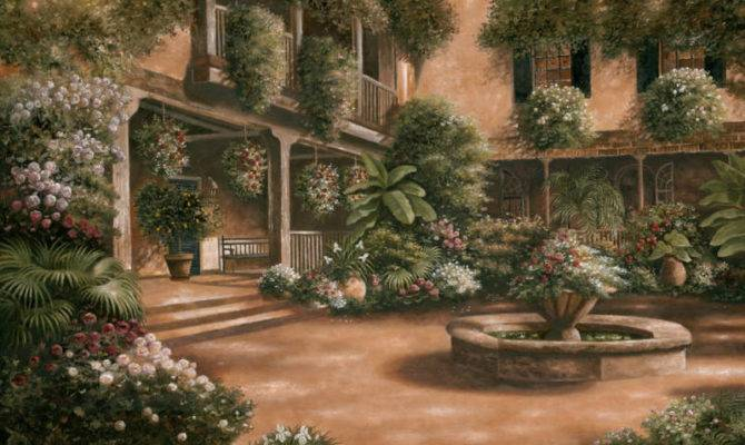 French Quarter Courtyard Betsy Brown Art Print