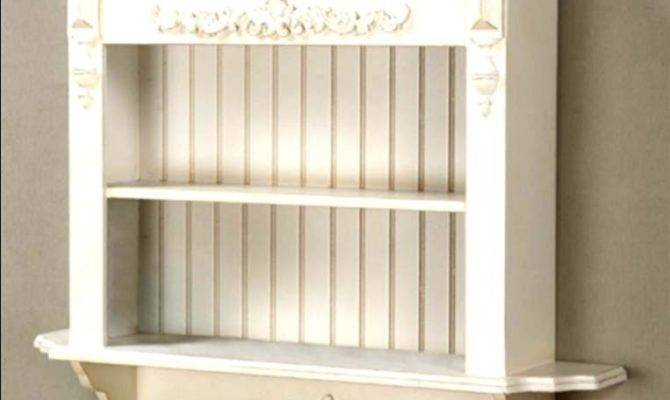 French Shelf Wall Shabby Chic Display Country Wood Carved