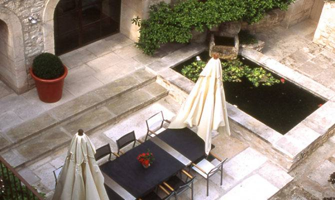 French Style Courtyard Interior Design Inspirations