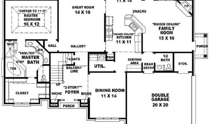 French Style House Plan Plans Floor Home