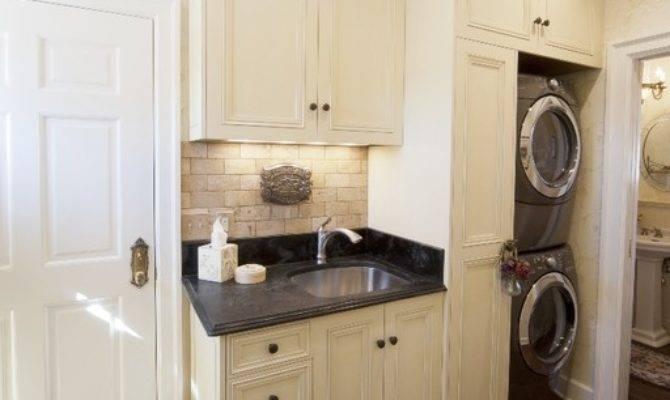 French Style Kitchen Mediterranean Laundry Room