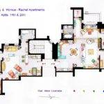 Friends Frasier Famous Shows Rendered Plan Archdaily
