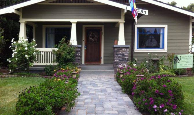 Front After Newly Renovated Porch Walkway