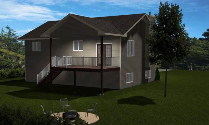 Front Back Split Level Home Plans