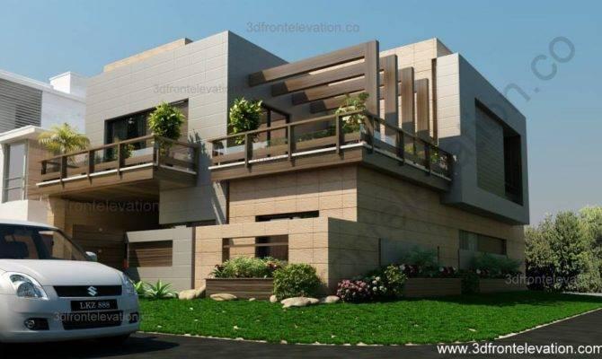 Front Elevation Corner House Marla Plan Design