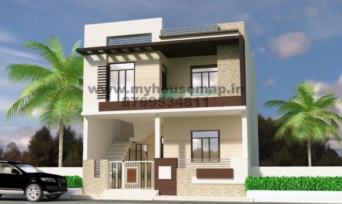 Front Elevation Design Modern Duplex
