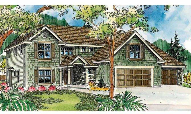 Front Elevation European Style House Plans Covered Porch