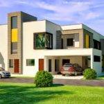 Front Elevation Kanal Corner Plot House