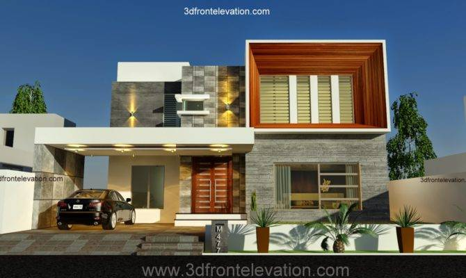 Front Elevation New Kanal Contemporary House
