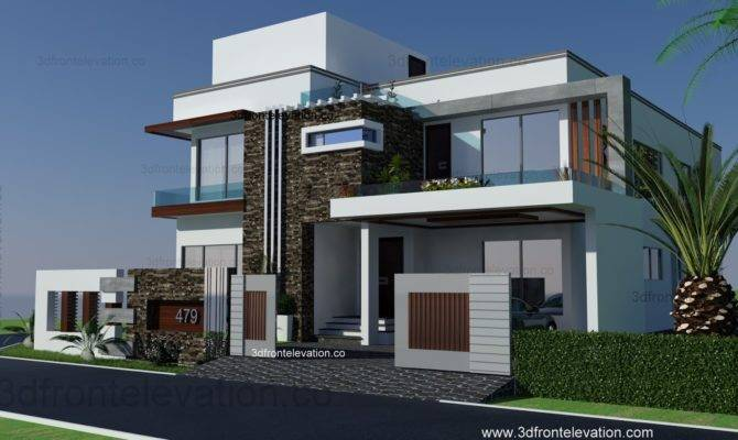 Front Elevation Square Yards House Plan