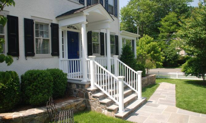 Front Porch Addition Colonial Elevation Can