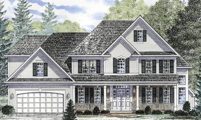 Front Porch Colonial House Plans