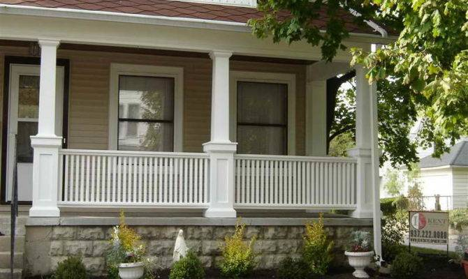 Front Porch Columns White Fences Pixels