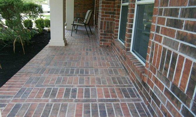 Front Porch Decorate Brick Porches Patio